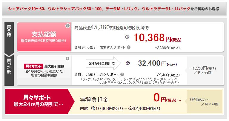 実質価格マイナス2.2万のdocomoタブレット『dtab Compact d-01J』が発売中