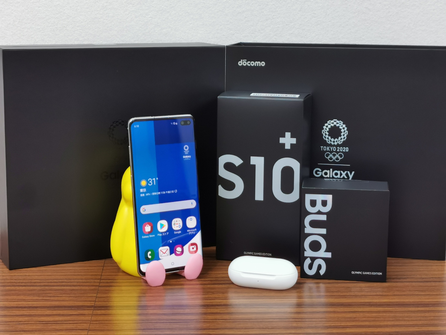 ドコモ、Galaxy S10+ Olympic Games Edition(オリンピックモデル)SC-05Lの違いをレビュー 外観の写真やオリジナルアプリ中心に紹介