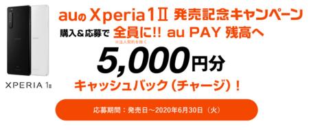 ドコモ/auで行われるXperia 1Ⅱ向けの購入・割引・キャッシュバック系キャンペーン