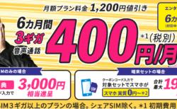 BIGLOBEの格安SIM、キャンペーン値引きやスマホの高額ポイント還元情報まとめ【12/1~】
